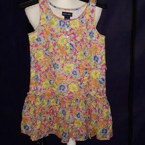 NWT Ralph Lauren girls flower dress with buttons